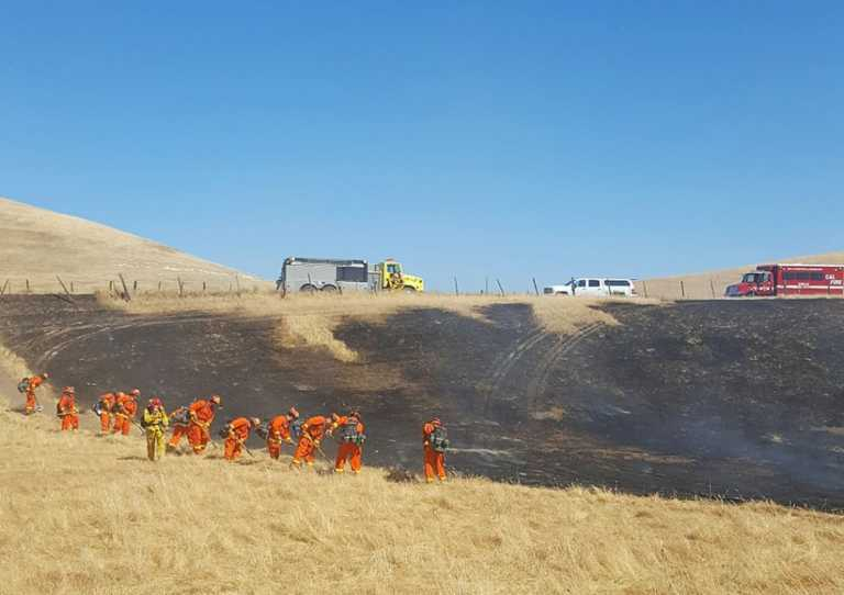 Grass fire injures 3 firefighters near Greenfield